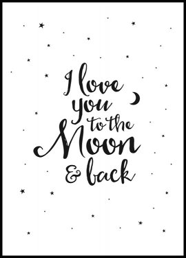 To the Moon Plakat