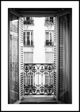 Paris Window Plakat