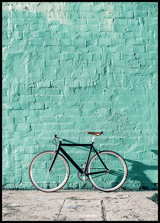Mint Wall Bike Plakat